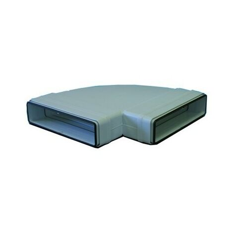 Coude 90° horizontal rectangulaire à joints CHRV 80 pour conduit PVC Rigide - Ultra-plat 40 x 110 mm
