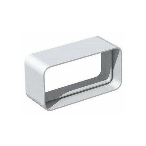 Manchon rectangulaire MCR pour conduit PVC rigide - Extra-plat 55 x 220 mm