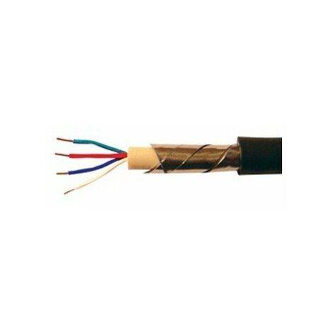 Câble téléreport arme 2Px0,6 noir - vendu au mètre