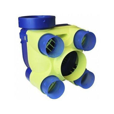 Kit VMC Hydra ST 2 - Simple flux hygroréglable - 196m³/h - 33dB - Avec bouches à piles