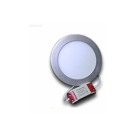 Downlight LED redondo 12W Aro Plata | Blanco Cálido 3000K