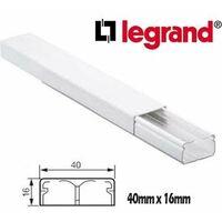 Tira Canaleta 2 mtrs Legrand 40x16mm Blanca 30021