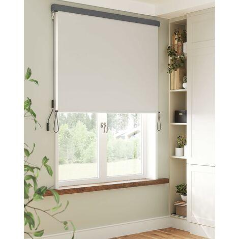 1.4 x 2.5m Store Vertical pour Balcon Terrasse avec Coffre Gris Inérieur ou Extérieur Paravent Pare-Soleil Brise-Vue Imperméable Toile en Beige GSA145BE - Beige