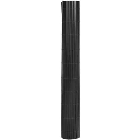 Lot de 2 Rouleau de Canisse PVC Clôture PVC pour Jardin Balcon Terrasse Gris 2 x (80 x 300cm) GPF3086G - gris