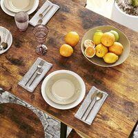 VASAGLE Table Haute, Table de Bar Rectangulaire, avec 3 Étagères, Structure en Fer Stable, pour Cuisine, Salle à Manger, 109 x 60 x 100 cm, Montage Facile, Marron Rustique par SONGMICS LBT11X - Marron Rustique