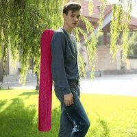 Chaise hamac, Fauteuil Suspendu balançoire XXL, 130 x 185 cm, Charge maximale 200 kg, intérieur et extérieur, Rouge GDC186RD - Gris