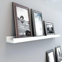 Étagères murales Etagères flottantes En bois Cadres photos Livres Exposition Rangement 115 x 10cm, blanche LWS46WT - Blanc