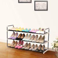 Porte-chaussures Etagère à chaussures de 3 étages 92 x 30 x 54cm (L x l x h) Gris LSA13G - Gris