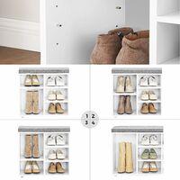 VASAGLE Banc à Chaussures, Étagère à Chaussures, Meuble de Rangement, 10 Compartiments, avec Coussin, pour Entrée, 104 x 30 x 48 cm, Blanc par SONGMICS LHS10WT - Blanc