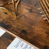 VASAGLE Étagère de rangement Bibliothèque à 4 niveaux pour Salon Chambre Cuisine Vintage Noire par SONGMICS LLS44X - Cadre noir, étagère vintage