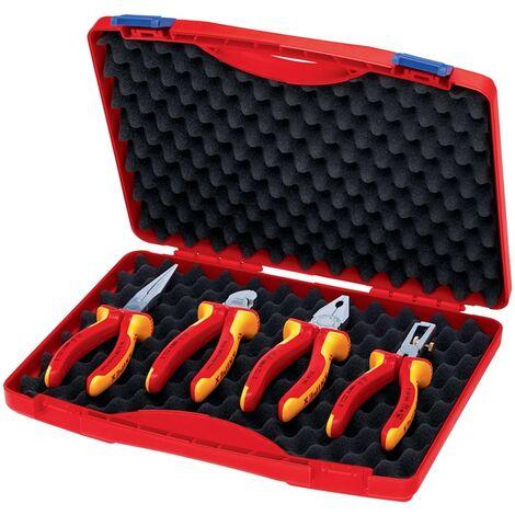 Zangensatz Kompakt-Box Inh.4tlg.VDE Kunststoffkoffer KNIPEX