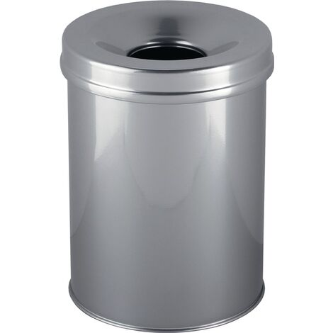 Abfallbehälter H357xØ260mm 15l silber DURABLE