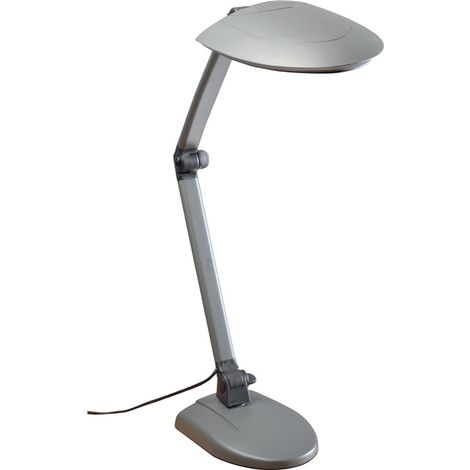 Schreibtischleuchte Ku.schwarz/anthrazit Standfuß Tischklemme Energiesparleuchte