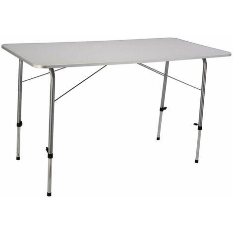 Tavolo Pieghevole Da Campeggio 120 X 60 Cm In Metallo Con Piano In Mdf