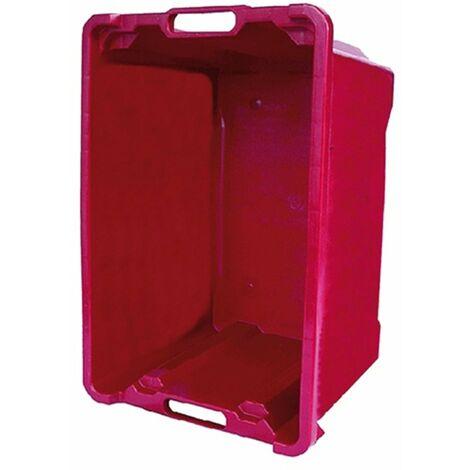 Cassetta in PVC impilabile per raccolta frutti, olive e vendemmia da 40 lt -Chiusa