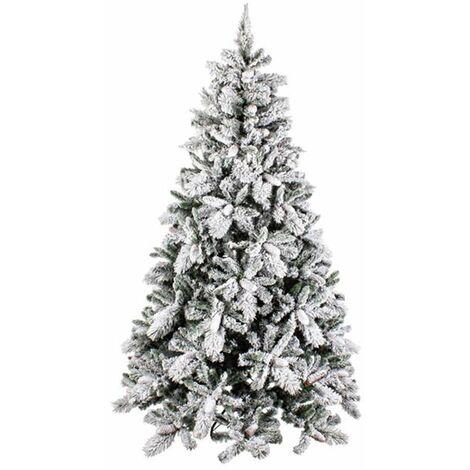 Albero Di Natale Innevato.Albero Di Natale Innevato Newark In Pp Effetto Aghi Di Pino Pvc Di Altissima Qualita Con Pigne 180 Cm 2371 0