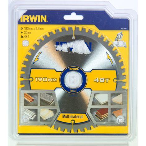 IRWIN 1897440 Disco Sierra Circular 190MM/48T MULTIUSO