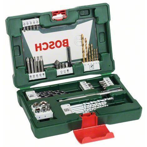 BOSCH 2607017314 Maletín V-Line puntas y brocas TiN48 piezas barra imantada