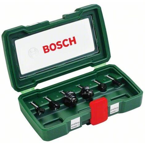 BOSCH 2607019464 Set de 6 fresas con insercción de 6 mm