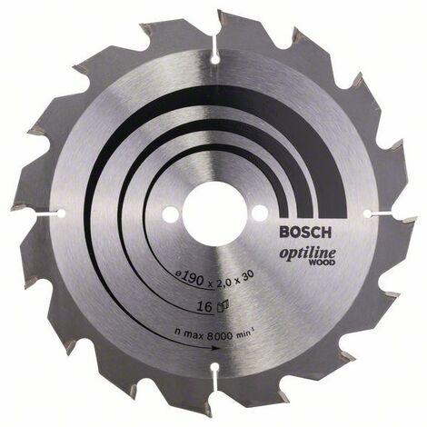 BOSCH 2608641184 Hoja de sierra circular Optiline Wood 190 x 30 x 2,0 mm 16