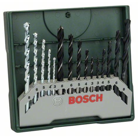 BOSCH 2607019675 Mini X-Line con 15 unidades para taladrar