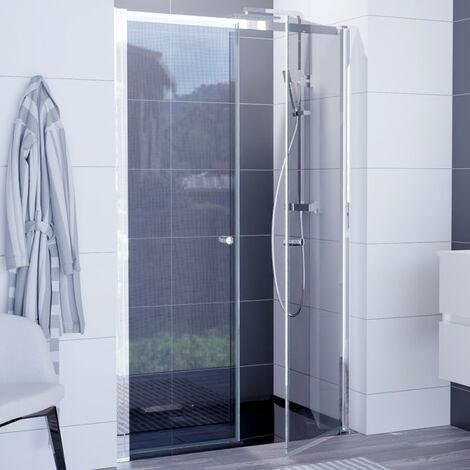 Porte de douche pivotante double - ATLANTIC 120 cm