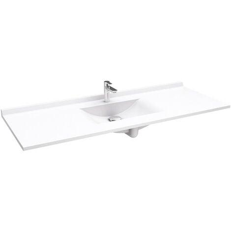 Plan simple vasque en résine de synthèse RESIPLAN - 140 cm