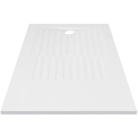 Receveur de douche blanc découpable 3cm OASIS - 160x90cm