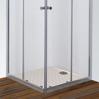 Porte de douche d'angle avec 2 coulissants NERINA - 100x100 cm
