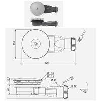 Bonde de douche extra-plate WIRQUIN - Ø 90mm