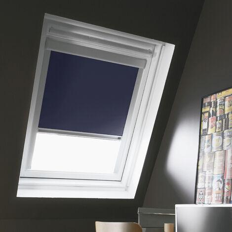 Store Enrouleur Occultant compatible VELUX® K - Bleu foncé - 114 x 118cm - SK06 - Bleu foncé
