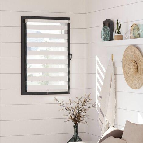 Store Enrouleur Jour Nuit Automatique - Blanc - L41 x H160cm - Blanc