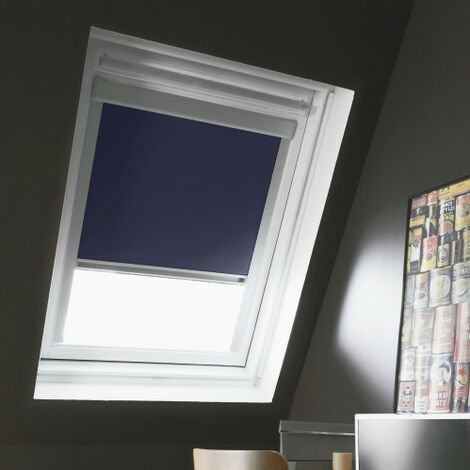 Store Enrouleur Occultant compatible VELUX® K - Bleu foncé - 78 x 98cm - MK04 - Bleu foncé
