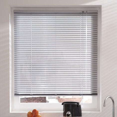 Store Vénitien micro-perforé Aluminium - Gris - L50 x H175cm - Gris