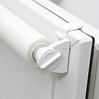 Store Enrouleur Voile Automatique Sans Percer - Blanc - L46 x H170cm - Blanc