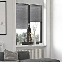 Store Enrouleur Voile Automatique Sans Percer - Gris - L46 x H170cm - Gris