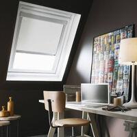 Store Enrouleur Occultant cadre blanc compatible VELUX® - Blanc - 61 x 116cm - M08 - Blanc