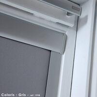 Store Enrouleur Occultant Cadre Alu compatible VELUX® - Bleu foncé - 38 x 54/74cm - C02/C04 - Bleu foncé