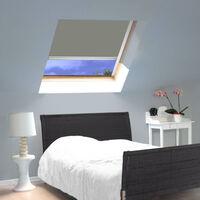 Store Enrouleur Occultant Cadre Alu compatible VELUX® - Gris - 97 x 116cm - S08 - Gris