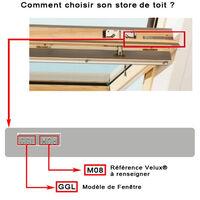 Store Enrouleur Occultant Cadre Alu compatible VELUX® - Chocolat - 97 x 116cm - S08 - Chocolat