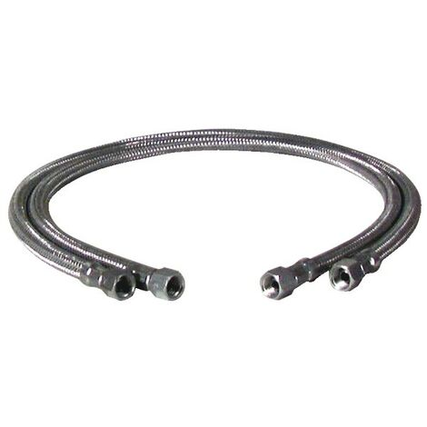 Flexible fioul F3/8 x F3/8 droit longueur 500mm (X 2)