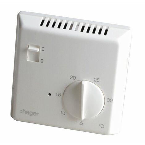 Thermostat simple électronique 25513 - HAGER : 25513