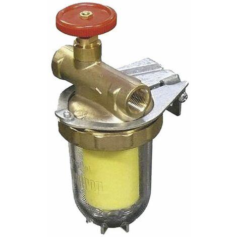 Filtre fioul une conduite avec robinet FF3/8 - OVENTROP : 2123261+2127700