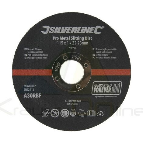 Discos Para Corte De Metal, 10 Pzas (115 X 1 X 22,23 Mm) - 738222