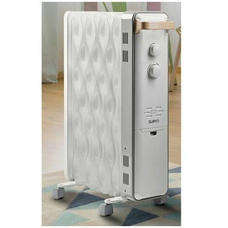 SUPRA RADIATEUR BAIN D'HUILE - 3 allures - Thermostat - 2000W