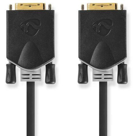 NEDIS Câble DVI  DVI-D Mâle à 24 + 1 Broches - DVI-D Mâle à 24 + 1 Broches  2,0 m  Anthracite