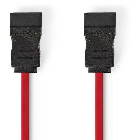 NEDIS Câble de données SATA 3 Gb/s  SATA Femelle à 7 Broches - SATA Femelle à 7 Broches  1,0 m  Touche rouge