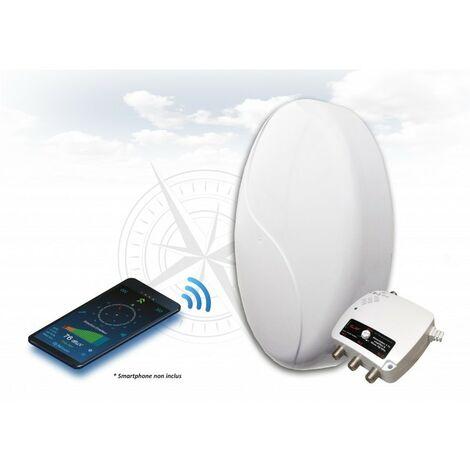 ELAP Antenne TNT PATCH 50 HD CONNECT - TNT HD - Amplifiée ampli / alimentation - 3 sorties TV - idéal Mobilhome