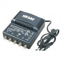 HDSAT Antenne TNT Trinappe Gain 18dB + Amplificateur tnt 4 Sorties