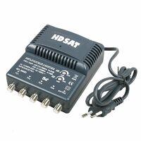 HDSAT AMPLIFICATEUR TNT BLINDE 4 SORTIES ampli d'intérieur antenne tv 220V - Gris